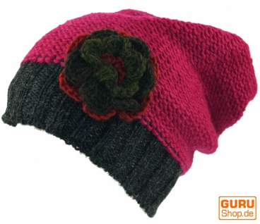Beanie Beanie Beanie Mütze, Blume - pink bf4d52