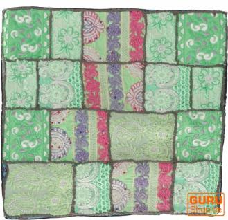 Patchwork Kissenhülle, Dekokissen Bezug aus Rajasthan, Einzelstück - Muster 51