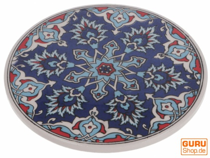 Orientalischer Keramikuntersetzer, runder Untersetzer mit Mandala Motiv - Muster 7