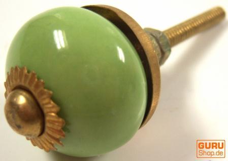 Kleiner Möbelknopf aus Keramik, Möbelknauf Möbelgriff, Schranktürknöpfe, Möbelknöpfe, Schubladengriff - Modell 4