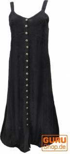 Besticktes Boho Sommerkleid, indisches Hippie Trägerkleid - schwarz/Design 20