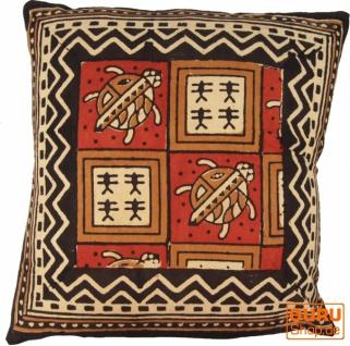 Kissenbezug Blockdruck, Dekokissen Bezug, Kissenhülle Ethno, Traditionelle Herstellung - Muster 24