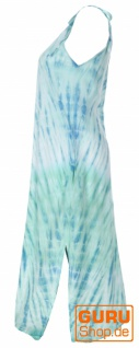 Boho Batikkleid, Strandkleid, Sommerkleid in Übergröße - aqua - Vorschau 2