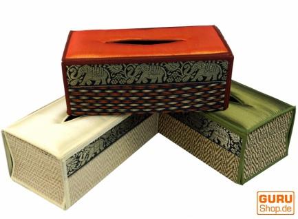 Kosmetiktücher / Servietten Box aus Rattan in vielen Farben, Napkin Holder, Taschentuchbox
