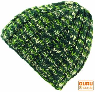 Beanie Mütze, warme Strickmütze - grün