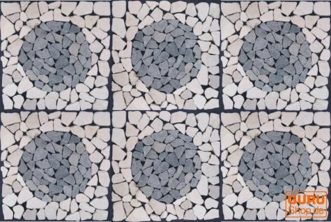 Mosaikfliese mit Kreis aus Marmor (Mo-08) - Design 20 - Vorschau 3