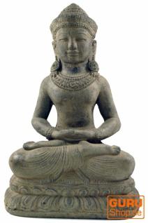 Sitzender Buddha aus Stein, 40 cm - Modell 1