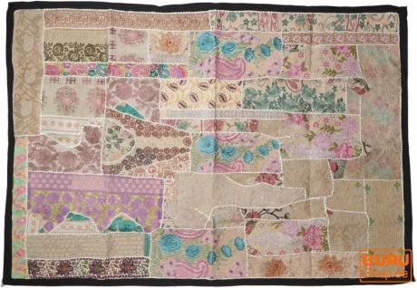Indischer Wandteppich Patchwork Wandbehang, Einzelstück 150*100 cm - Muster 21
