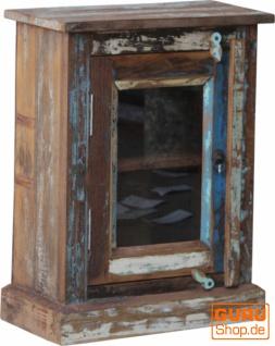Vintage Glastür Beistellschrank, Kommode, Nachttischschrank, Flurschrank - Modell S16