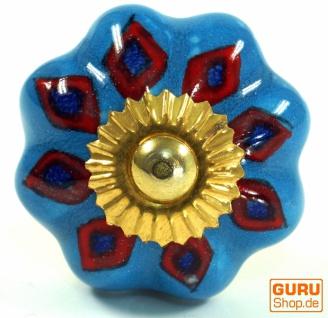 Möbelknopf Rose aus Keramik, Möbelknauf Möbelgriff, Schranktürknöpfe, Möbelknöpfe, Schubladengriff - Modell 41
