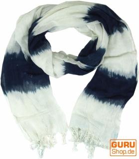 Baumwolltuch - dunkelblau/weiß