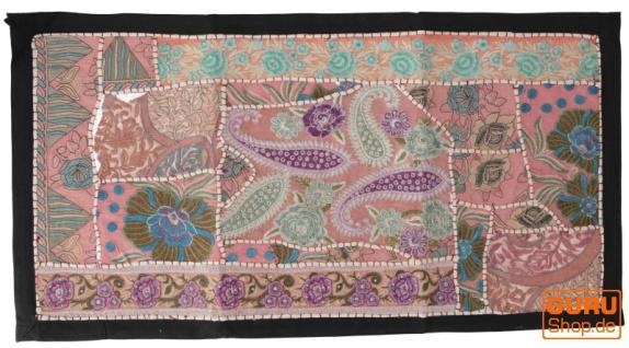 Indischer Wandteppich Patchwork Wandbehang, Tischläufer, Einzelstück 85*45 cm - Muster 7