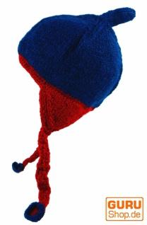 Wollmütze mit mit mit Ohrenklappen - blau bb64a7