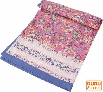 Blockdruck Tagesdecke, Bett & Sofaüberwurf, handgearbeiteter Wandbehang, Wandtuch - Design 7