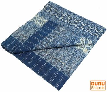 Quilt, Steppdecke, Tagesdecke Bettüberwurf, Besticktes Tuch, Indischer Bettüberwurf, Tagesdecke - Muster 27