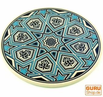 Orientalischer Keramikuntersetzer, runder Untersetzer mit Mandala Motiv - Muster 6