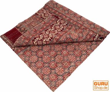Quilt, Steppdecke, Tagesdecke Bettüberwurf, Besticktes Tuch, Indischer Bettüberwurf, Tagesdecke - Muster 11