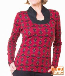Pullover aus Bio-Baumwolle / Chapati Design - burg lotus