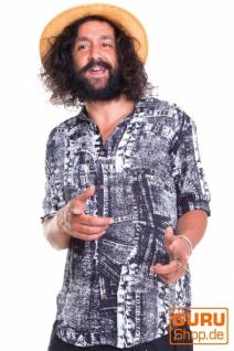 Langärmliges Hemd / Chapati Design - black denim