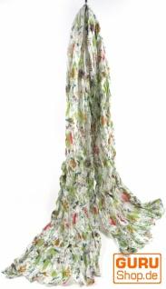 Baumwolltuch mit Blumenmuster in 4 Farben - Vorschau 4