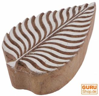 Indischer Textilstempel, Stoffdruckstempel, Blaudruck Stempel, Holz Model - 6*9 cm Blatt 2