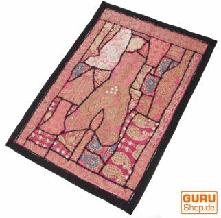 Indischer Wandteppich Patchwork Wandbehang, Einzelstück 90*65 cm - Muster 1