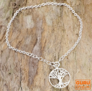 Silber Armkettchen, Boho Armschmuck - Baum des Lebens 2