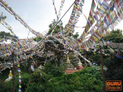 5 Stück Sparpack Gebetsfahnen (Tibet) mit 10 Wimpeln in verschiedenen Längen - Vorschau 4