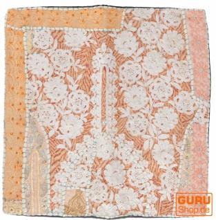 Patchwork Kissenhülle, Dekokissen Bezug aus Rajasthan, Einzelstück - Muster 42