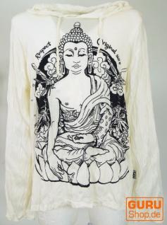 Sure Langarmshirt, Kapuzenshirt Meditation Buddha - weiß