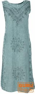 Besticktes Boho Sommerkleid, indisches Hippie Kleid - aqua Design 4