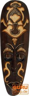 Kleine Abstrakte Maske, Wandschmuck, Ethno Wanddekoration aus Balsaholz - Modell 7 - Vorschau