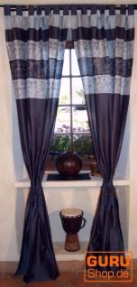 Vorhang, Gardine (1 Paar Vorhänge, Gardinen) - blau