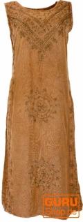 Besticktes Boho Sommerkleid, indisches Hippie Kleid - mustard/Design 4