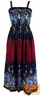 Hippie Strandkleid, Sommerkleid - bordeaux
