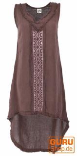 Natürliches Tunikakleid, Boho Sommerkleid - dunkelbraun