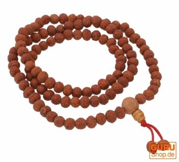 Lotus Samen Mala, tibetische Gebetskette, buddhistische Mala Halskette - Modell 1