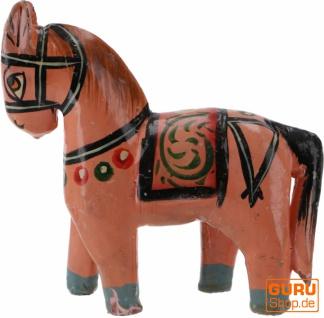 Deko Pferd, im Antik- look bemalt - lachs