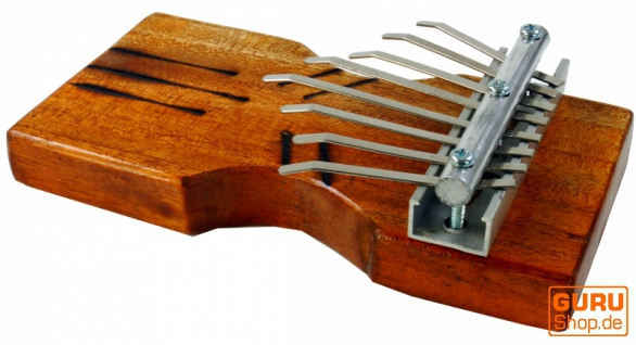Musikinstrument aus Holz, Musik Percussion Rhythmus Klang Instrument, handgearbeitet, Tisch Klangspiel aus Holz - Kalimba 1