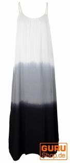 Schmales Batikkleid, Strandkleid, Sommerkleid - schwarz/weiß