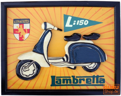 Retro Werbeschild 3-D `Lambretta`