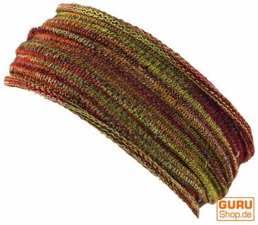 Magic Hairband, Dread Wrap, Schlauchschal, Stirnband - Haarband rot/gelb