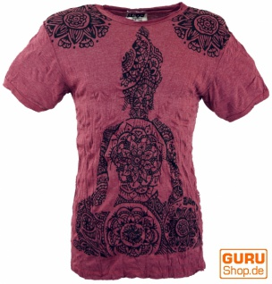 Sure T-Shirt Mandala Buddha - bordeaux