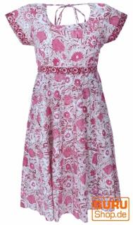 Boho Minikleid, luftiges Sommerkleid - pink
