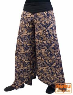 Palazzohose Hosenrock Schlaghose Sommerhose Hippie Goa Hose - blau
