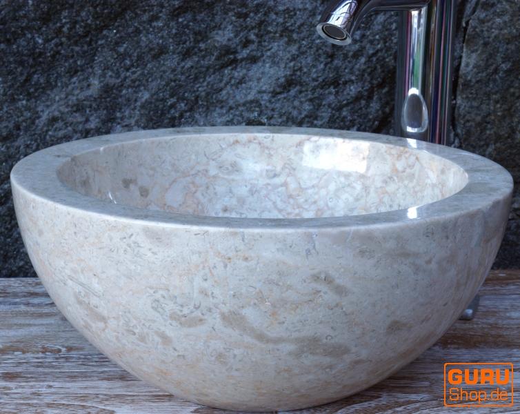 Rundes Aufsatzwaschbecken massives rundes marmor aufsatz waschbecken waschschale naturstein