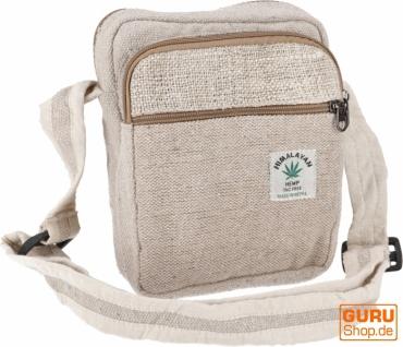 Kleine Hanf Schultertasche, Hippie Tasche, Goa Tasche - Hanftasche 1