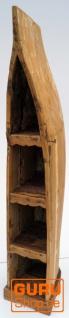 Boot Regal, Weinregal, Bücherregal aus altem Bootsrumpf 200 cm - Boot 14