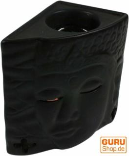 Keramik Duftlampe - Buddha 1 schwarz