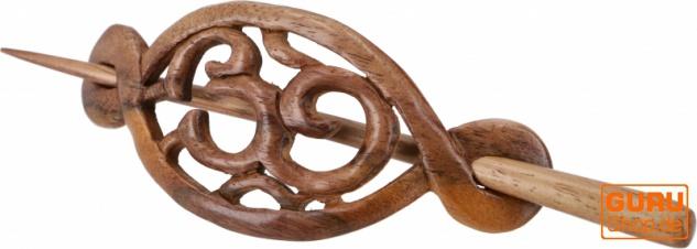 Ethno Holz Haarspange mit Stab, Boho Haarschmuck - OM/Model2